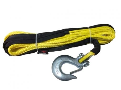 Синтетический трос 8.6мм/24м с коушем, с крюком