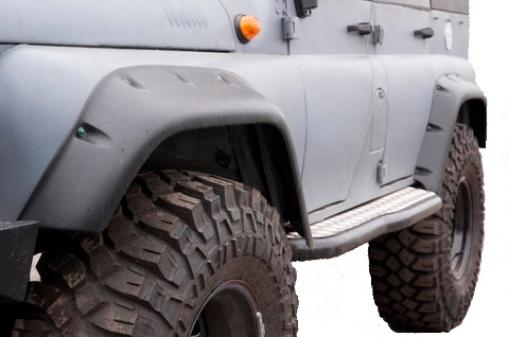 Расширители колёсных арок УАЗ Хантер под максимальный вырез арок кузова