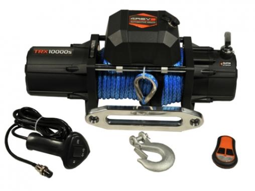 Лебедка автомобильная 4REVO 10000 12V с синтетическим тросом