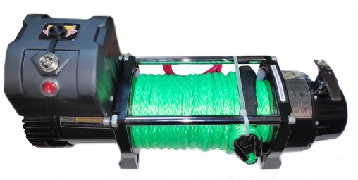 Лебедка автомобильная электрическая 4х4 12000 с синтетическим тросом 12V