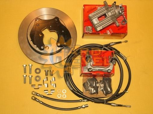 Полный комплект задних дисковых тормозов для УАЗ Патриот с невентилируемыми дискам и суппортами Volkswagen