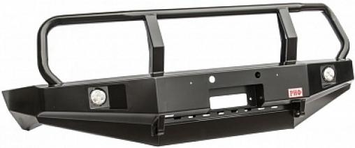 Бампер РИФ передний Toyota Land Cruiser 105 с доп. фарами и защитной дугой