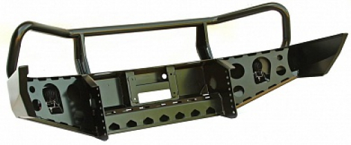 Бампер РИФ передний MAZDA BT50 (2006-2011) с доп. фарами и защитной дугой