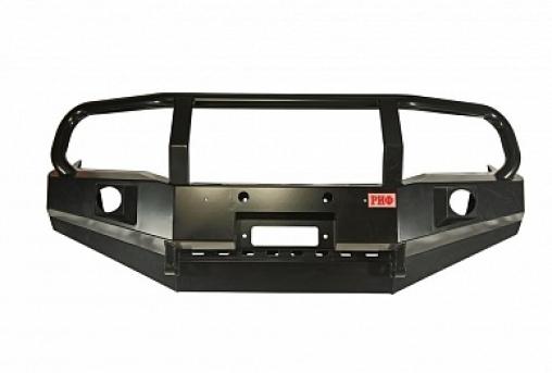 Бампер РИФ передний Toyota Hilux 2012-2014 с доп. фарами, защитной дугой и защитой бачка омывателя