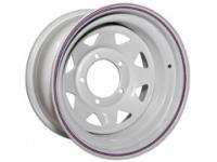 Диск колёсный стальной штампованный посадка 5x139.7 УАЗ размер 8х15 вылет ET-19 центральное отверстие D 110 цвет белый