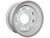 Диск колёсный стальной штампованный посадка 5x139.7 УАЗ размер 8х16 вылет ET- 19 центральное отверстие D 110 цвет белый.