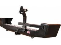 Бампер задний с квадратом под фаркоп и калиткой для УАЗ Патриот РИФ