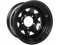 Диск колёсный стальной штампованный посадка 5x139.7 УАЗ размер 10х15 вылет ET- 44 центральное отверстие D 110 цвет черный