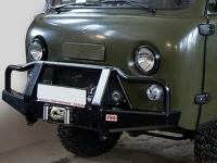 Бампер РИФ передний универсальный усиленный с низким кенгурином для УАЗ Буханка РИФ