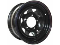Диск колёсный стальной штампованный посадка 5x139.7 УАЗ размер 8х16 вылет ET- 0 центральное отверстие D 110 цвет: черный.