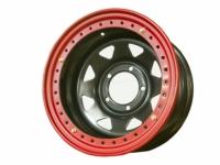 Диск колёсный стальной штампованный с бедлоком посадка 5x139.7 УАЗ размер 8х16 вылет ET -40 центральное отверстие D 110 цвет: черный.