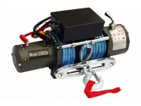 Лебёдка электрическая 12V Electric Winch 12000 lbs 5443 кг (влагозащищенная, синтетический трос)