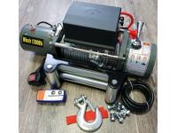Лебёдка электрическая 12V Electric Winch SC12 OR 12000 lbs 5443 кг (стальн. трос 18 м)