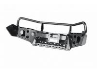 бампер РИФ передний Toyota Hilux 2015+ с защитной дугой и защитой бачка омывателя