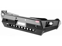 Бампер РИФ передний Mitsubishi L200 2015+ с доп. фарами и защитой бачка омывателя