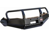 Бампер РИФ передний Toyota Hilux 2012-2014 с защитной дугой и защитой бачка омывателя